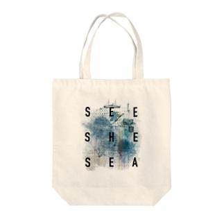 SEE SHE SEA Tote bags