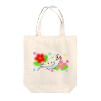 セキセイインコのピーコちゃんⅡ Tote bags