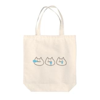 ねこセット Tote bags
