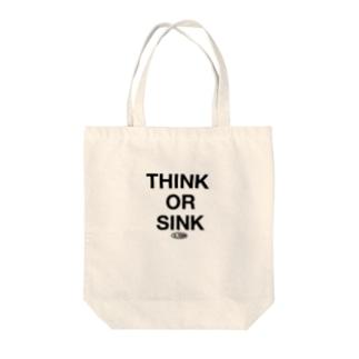 THINK OR SINK Tote bags