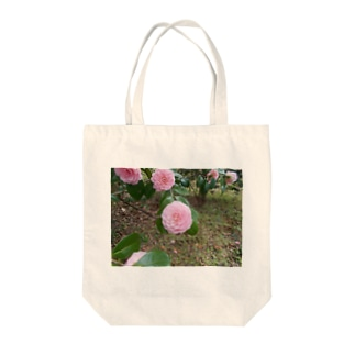 Pale pink camelia blooming カメリア Tote bags