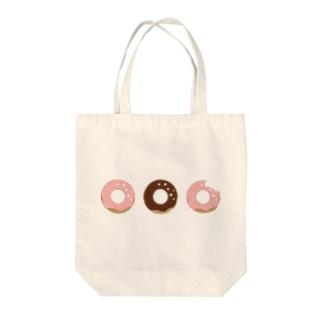 かじられドーナツ Tote bags