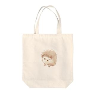 ハリネズミのポタ Tote bags