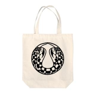 家紋風ヤマカガシ Tote bags