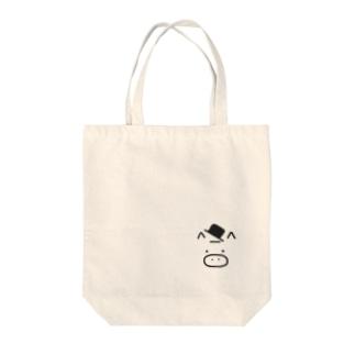 ぶぅ Tote bags