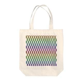 Yagasuri(Vintage Rainbow) Tote bags