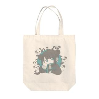 パンダと女の子 Tote bags