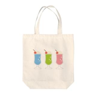 クリームソーダ(3colors) Tote bags