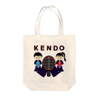 """剣道""""KENDO""""男子女子トンボ(レッド) Tote bags"""
