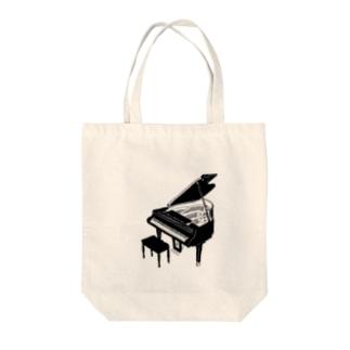 piano  Tote bags