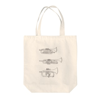 trumpets Tote bags