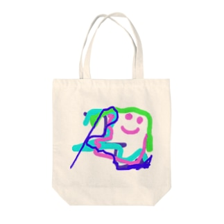 face Tote bags
