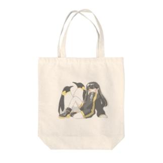 ペンギンと女の子 Tote bags