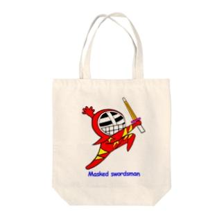 マスクド・レッド Tote bags