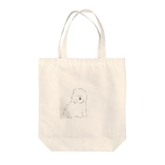 ふわふわビションフリーゼ Tote bags