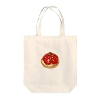 いちごタルト Tote bags