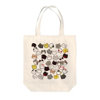 ネコのかたまり Tote bags