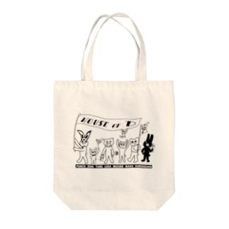 ぱんちHOD30 mono Tote bags