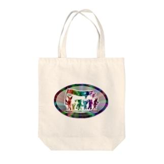 ぱんちHOD30 rainbow Tote bags
