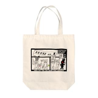 ぱんちHOD30 square Tote bags
