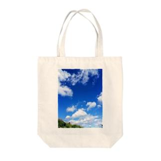 青そしてブルー Tote bags