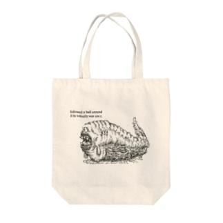 takoshiのいもむし Tote bags