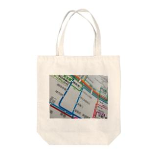 杭州路線図 Tote bags