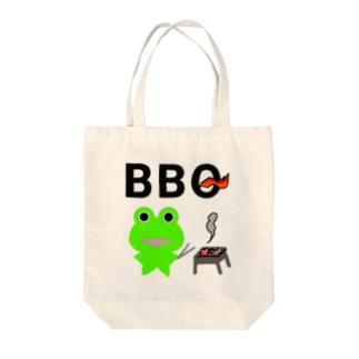 BBQを楽しむカエルくん Tote bags