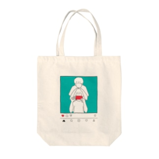 Morning in the Mirror2 insta Tote bags