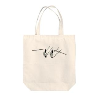 ダウジング Tote bags