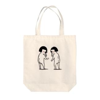 おかっぱ女子に気付かれた! Tote bags