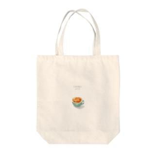 キャラメルラテさん Tote bags