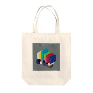 立体カラーバー Tote bags