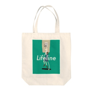 lifeline Tote bags