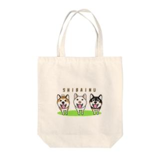 柴犬トリオ Tote bags