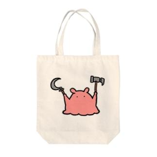 思想に癖のあるメンダコ Tote bags
