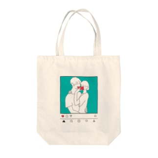 Morning in the Mirror3insta Tote bags