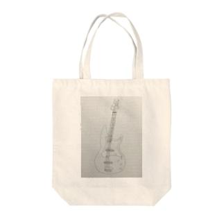 アナログベース手書き Tote bags
