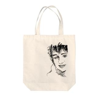 だれでしょう Tote bags