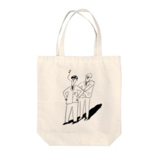 まえならえ Tote bags