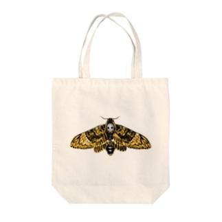 クロメンガタスズメガ Tote bags