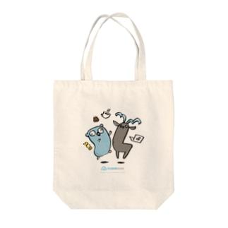 Gopherくん×カプラ Tote bags