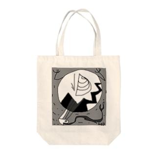 ハラペコお月さま Tote bags