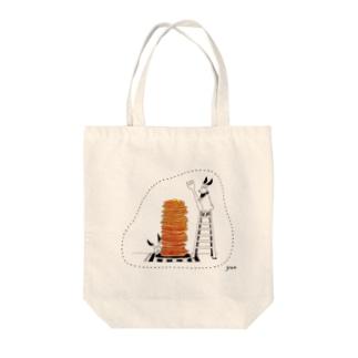 パンケーキタワー Tote bags
