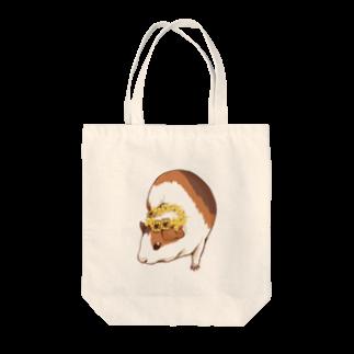 Lichtmuhleのミモザの花かんむりとモルモット Tote bags