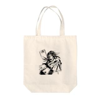 職業戦士『札士』(黒) Tote bags