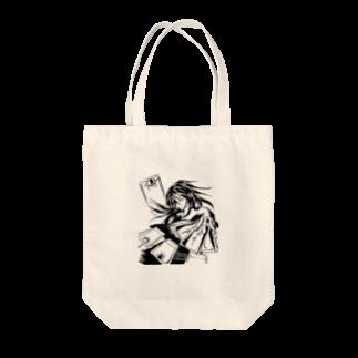 speramistの職業戦士『札士』(黒) Tote bags