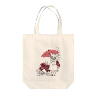 ネコと傘 トートバッグ