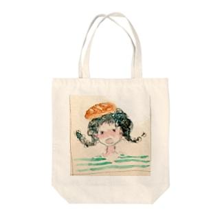 パン少女 Tote bags