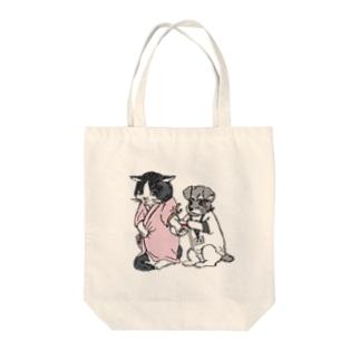 にゃんドック💉採血ver(フルカラー) Tote bags